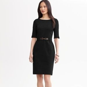 Banana Republic Belted Shift Dress Black Size 2